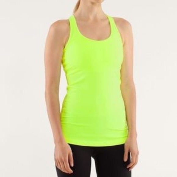 Ivivva lululemon tank top size small yellow neon